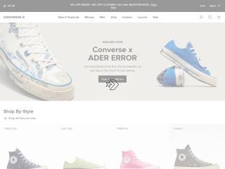 Capture d'écran pour converse.com