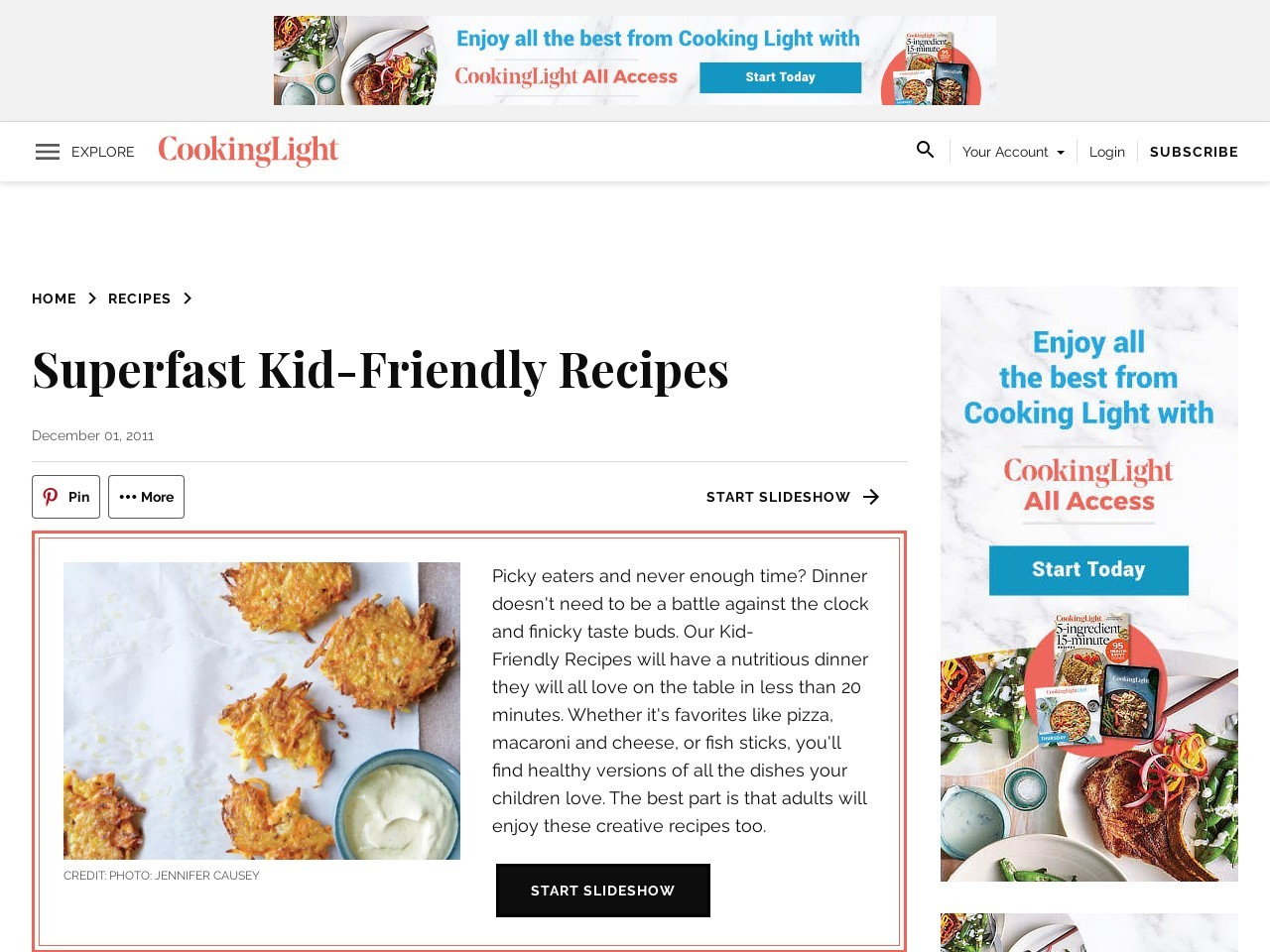 Quick and Easy Kid-Friendly Recipes – Cooking Light