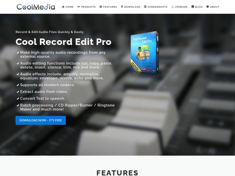 CoolRecordEdit Inc. screenshot