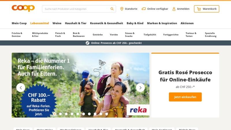 www.coop.ch Vorschau, Coop-Internet