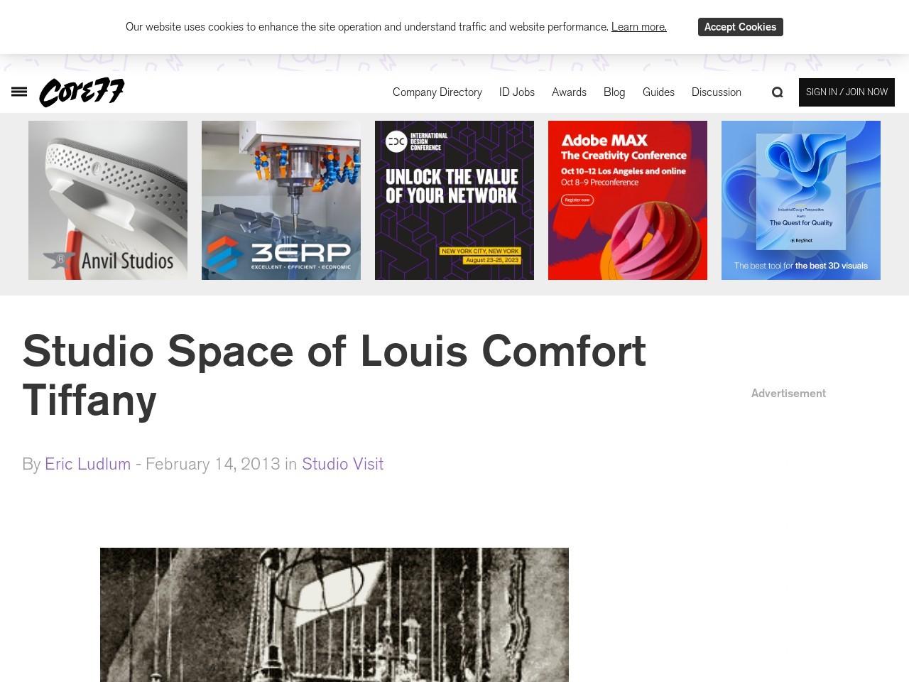 Studio Space of Louis Comfort Tiffany – Core77