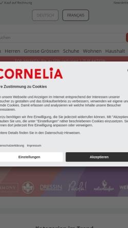 Vorschau der mobilen Webseite www.cornelia.ch, Cornelia Versand GmbH