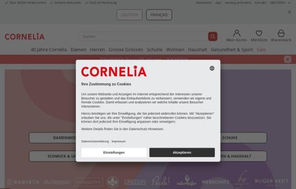 Vorschau von www.cornelia.ch, Cornelia Versand GmbH