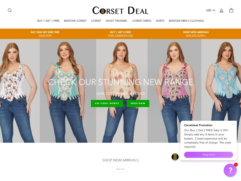 Corset Deal Coupon Codes