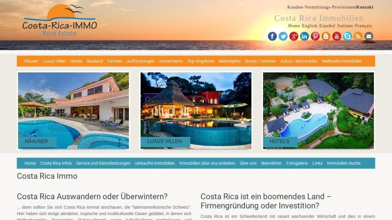 www.costa-rica-immo.com Vorschau, Costa Rica Immobilien
