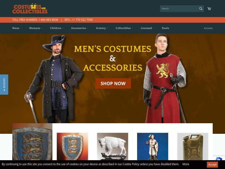 Costumes and Collectibles screenshot