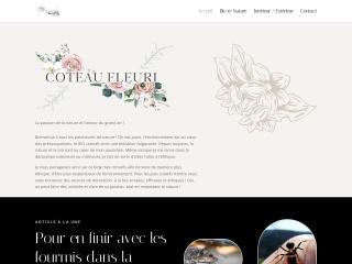 Capture d'écran pour coteaufleuri.fr
