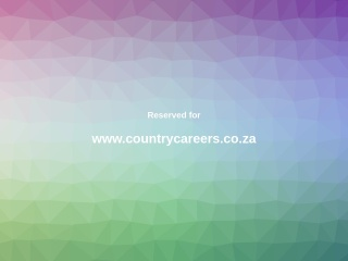 Screenshot for countrycareers.co.za
