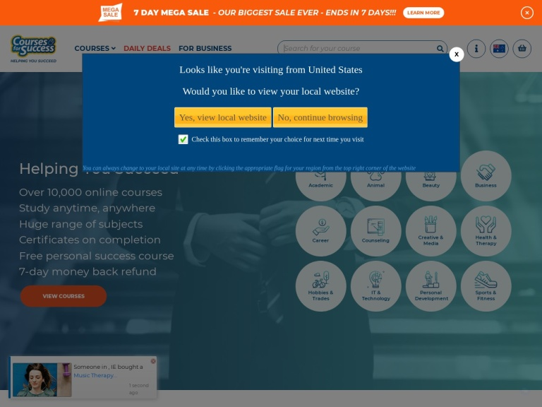 CoursesForSuccess Coupon Codes screenshot