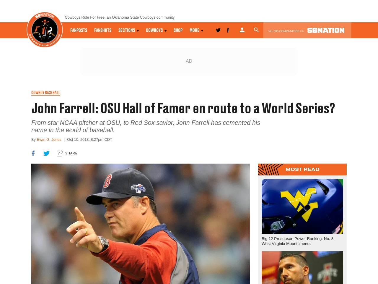 John Farrell: OSU Hall of Famer en route to a World Series?