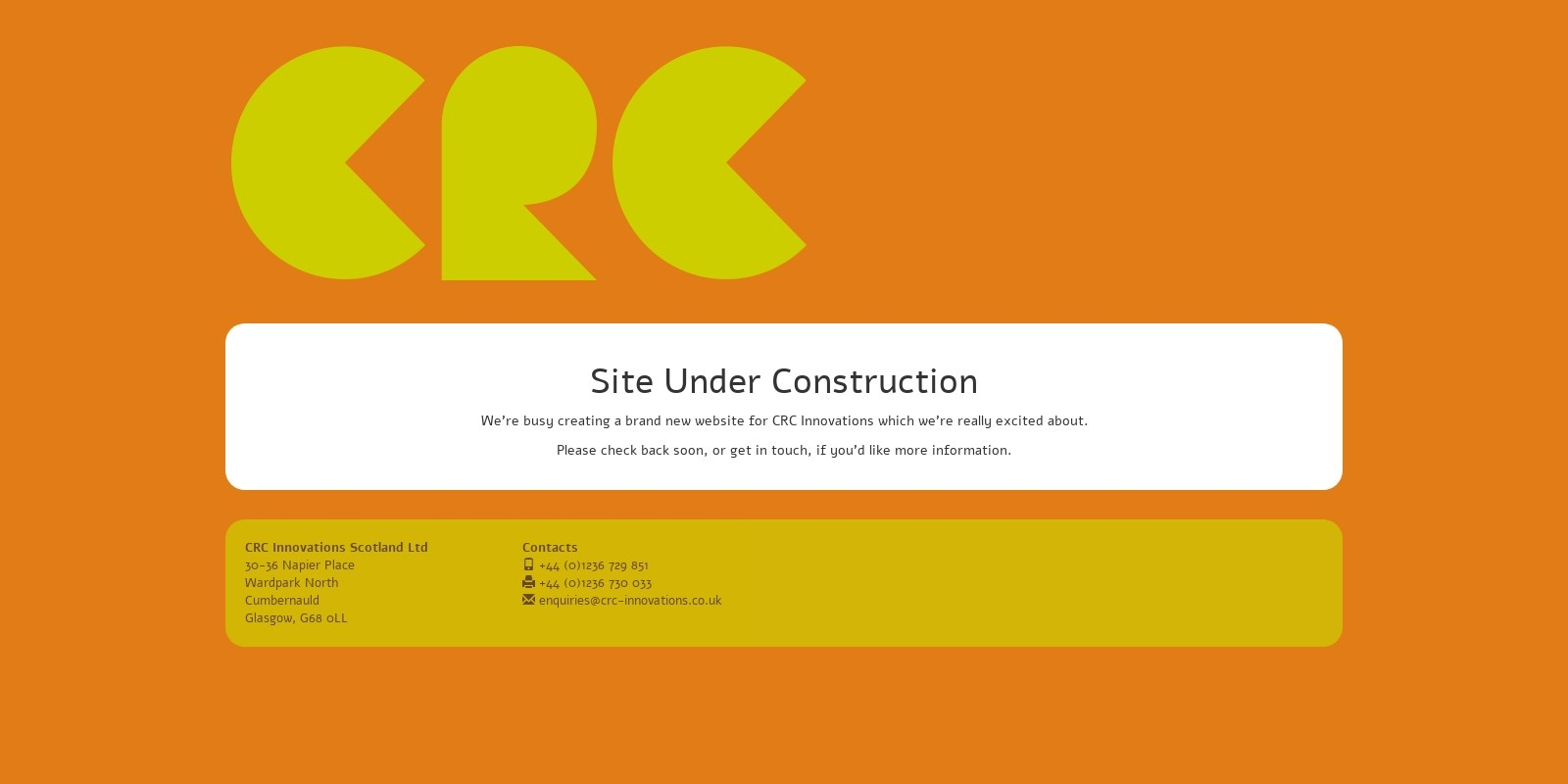 Preview of http://www.crc-innovations.co.uk