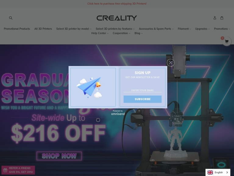 creality3d-office Coupon Codes & Promo codes