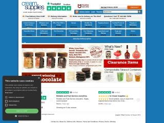 Screenshot for creamsupplies.co.uk
