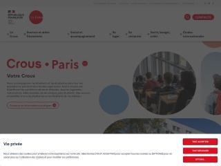 Capture d'écran pour crous-paris.fr