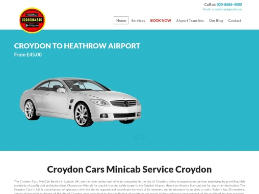 West Croydon Station Taxis | 020 8686 4000 | Airport Taxi Service