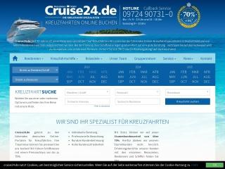 Screenshot der Website cruise24.de