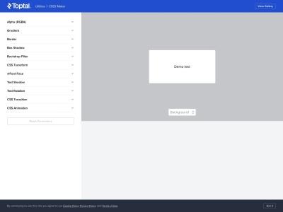 「CSS3.0 Maker」で簡単にCSSのコードを作る