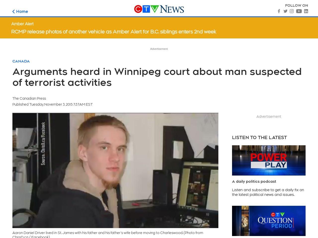 Arguments heard in Winnipeg court about man suspected of …
