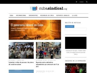 Captura de pantalla para cubasindical.org