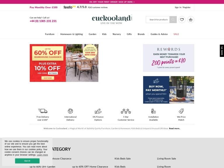 Cuckooland Free Delivery screenshot