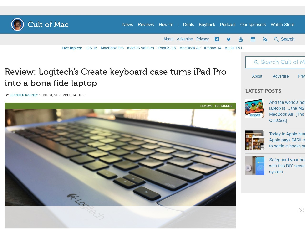 Review: Logitech's keyboard case for iPad Pro makes it a …