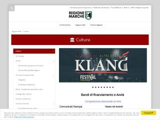 Screenshot del sito cultura.marche.it