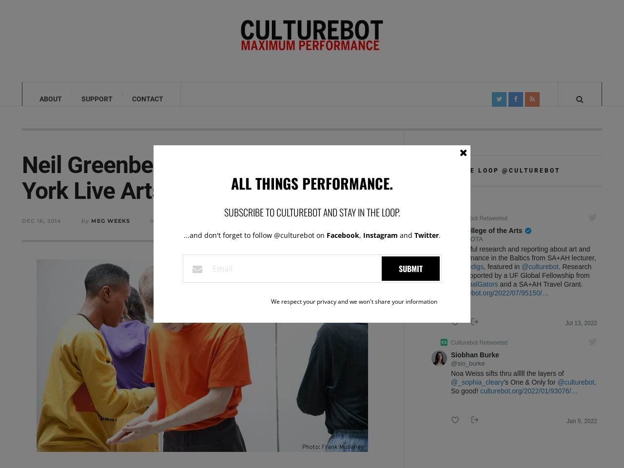 "Neil Greenberg's ""This"" at New York Live Arts 