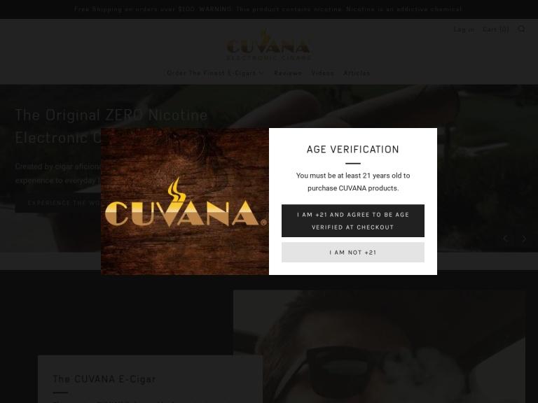 CUVANA E-Cigar Coupon Codes