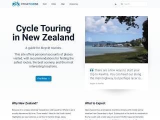 Screenshot for cycletour.org.nz