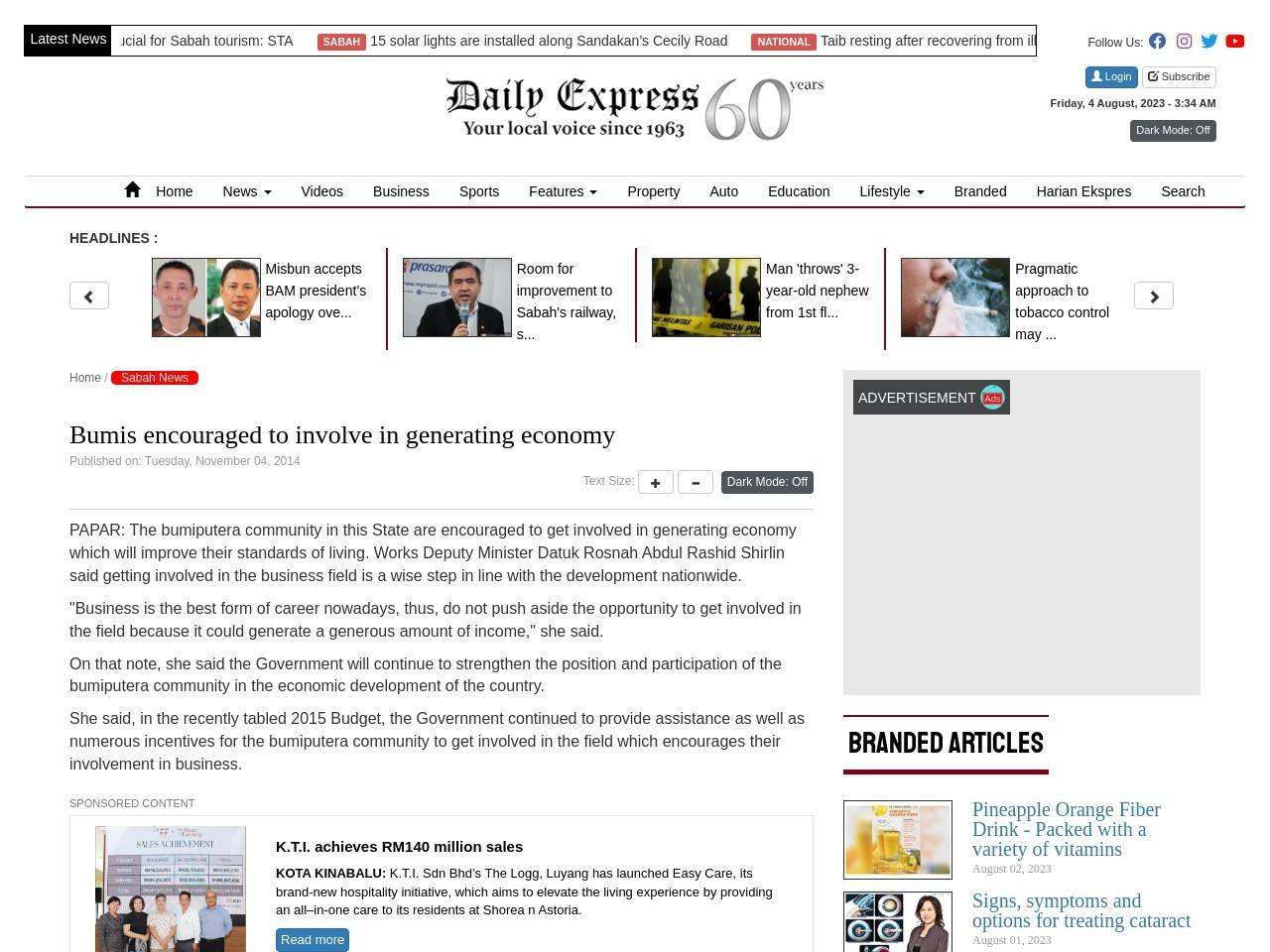 Bumis encouraged to involve in generating economy