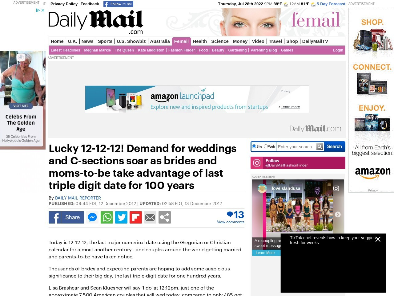 12-12-12! Wedding fever peaks today with 7500 brides set to say 'I do' on last …