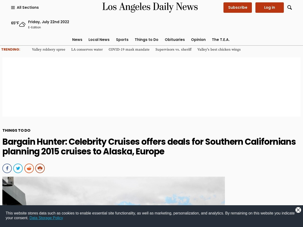 Bargain Hunter: Celebrity Cruises offers deals for Southern Californians …
