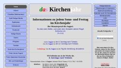 www.daskirchenjahr.de Vorschau, Das Kirchenjahr