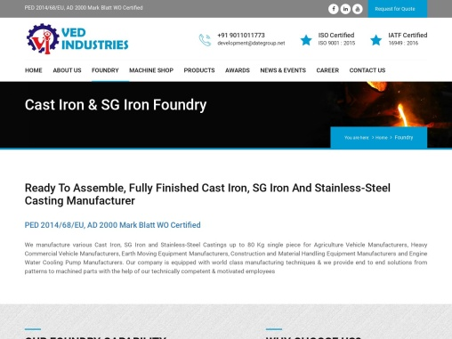 Cast Iron Foundry in India | Cast Iron Casting Manufacturers in India
