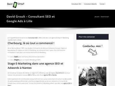 David Groult - Consultant SEO et Adwords sur Lille