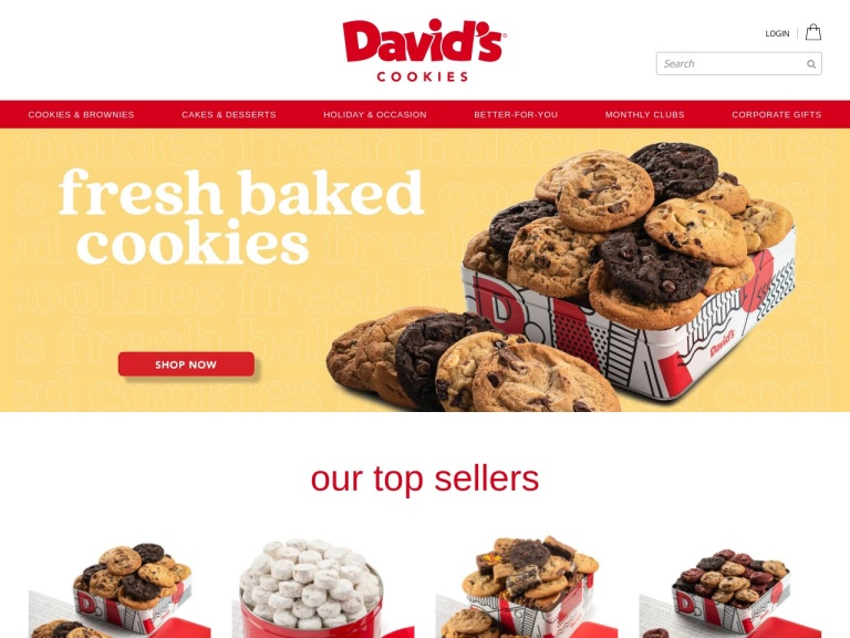 Davids Cookies screenshot