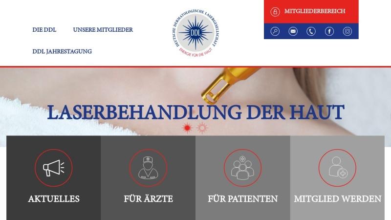 www.ddl.de Vorschau, Deutsche Dermatologische Lasergesellschaft
