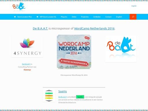 Screen shot van site De B.A.A.T.