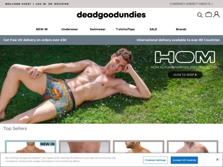 Dead Good Undies Free Delivery screenshot