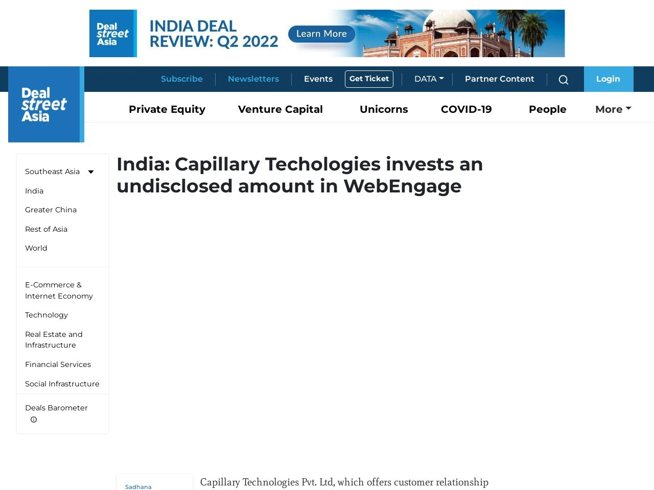 India: Capillary Techologies invests an undisclosed amount in WebEngage