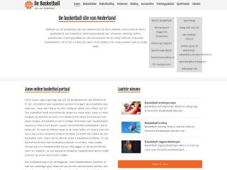 Screenshot voor debasketballsitevannederland.nl