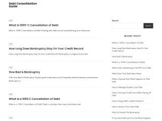 Captura de pantalla para debtconsolidation.co