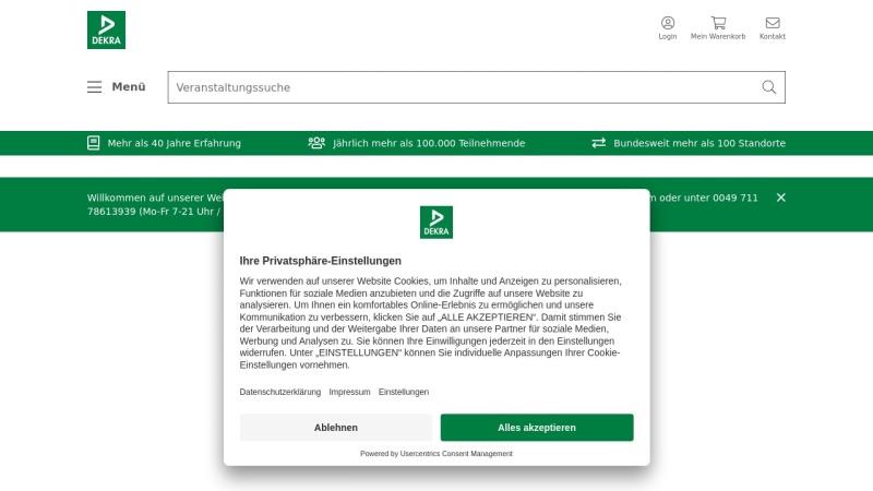 www.dekra-akademie.de Vorschau, DEKRA Akademie