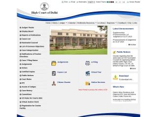 Screenshot for delhihighcourt.nic.in
