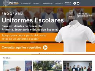 Captura de pantalla para delicias.gob.mx