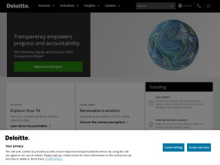 Screenshot for deloitte.com