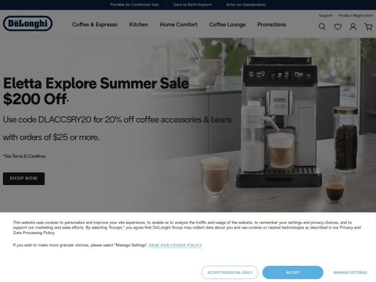 DeLonghi Coupon Codes screenshot