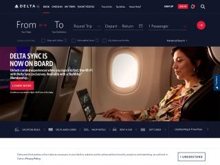 Captura de pantalla para delta.com