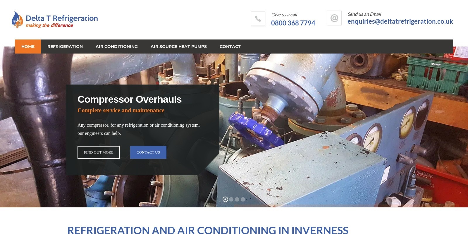 Preview of http://www.deltatrefrigeration.co.uk