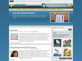 Screenshot der Website dentalnews.at
